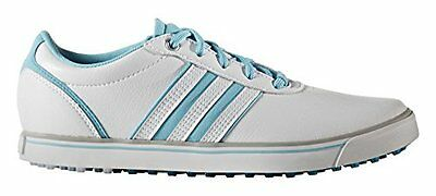 adidas Adicross V, Scarpe da Golf Donna, Bianco (White/Blue Glow/Energy (A5K)