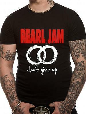Pearl Jam T Shirt Never Give Up Official Black Mens Tee Rock Merch Don't NEW