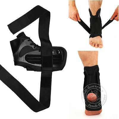 Ankle Support Brace Foot Sprain Injury Pain Wraps Splint Strap Lace Up S M new