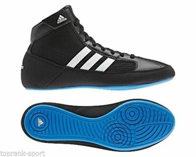 Adidas Kids Havoc Lace Black/Blue Wrestling Shoes Boots - Unisex