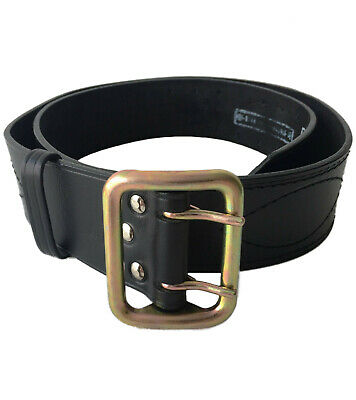 Officer leather belt stitched thread metal buckle original russia army part new
