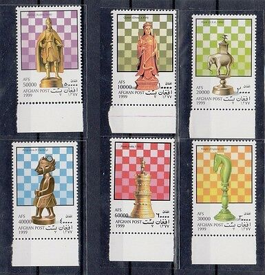 Afghanistan 1999 Chess Pieces. Set. MNH. VF.