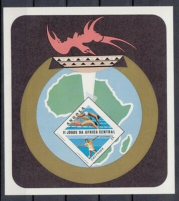 Angola 1981 Atletism. 2nd Central African Games. S/S. Imperf. MNH. VF.