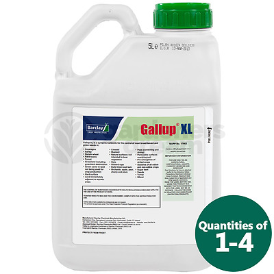 5L Gallup Xl Super Strength Professional Glyphosate Total Garden Weedkiller