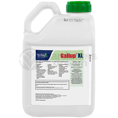 5L Gallup Xl Super Strength Professional Glyphosate Total Garden Weed Killer