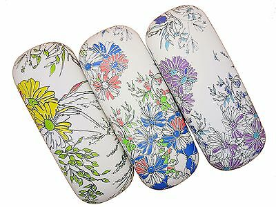 Flower Pattern Floral Design Hard Glasses Case For Ladies / Womens Spectacles