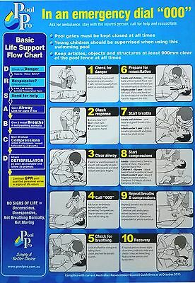 Cpr Sign Large Pool & Spa Cpr Resuscitation Sign Drsabc Safety Sign Compliant