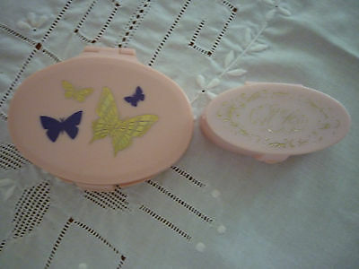 Vintage Acrylic Max Factor Lip View & House Of Fuller Mirror/Powder Compact