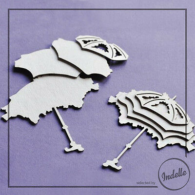 Four-layer Umbrella Chipboard Shapes Card Making Papercraft Scrapbooking 2 Pack