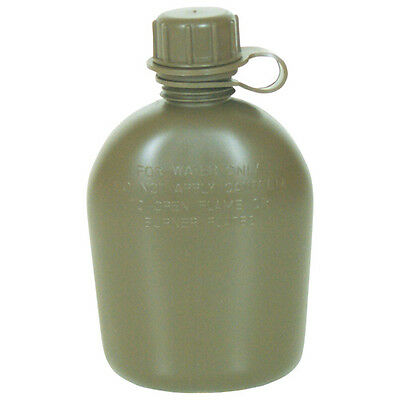 Canteen 1 Quart New Government Issue US Military Surplus Rugged Lightweight OD