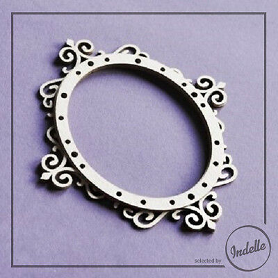 Three-layer Oval Frame Chipboard Shape Card Making Papercraft Scrapbooking