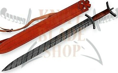 Damascus steel blade CELTIC Sword,Handmade SWORD.DAMASCUS HILTS, ROSE  WOOD