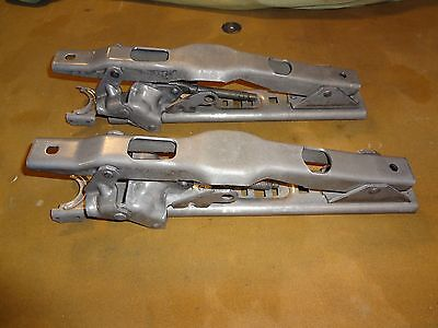 66-72 Chevelle Gto Gm 4-Way Power Bench Seat Track Main Body Rails  Nos Perfect!