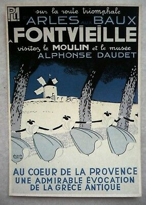 Cpm Reproduction Affiche Ancienne / Fontvieille / Leo Lelee 1935