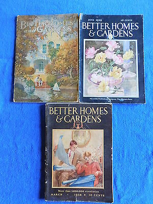 Lot of 3 BH & G: November 1927, March 1928, June 1929