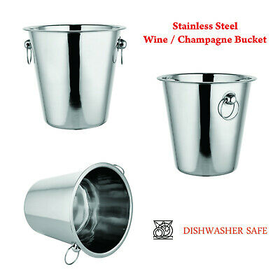 Champagne Wine Ice Bucket 4 Litre in High Polished Stainless Steel Wine cooler