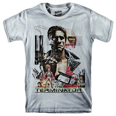 THE TERMINATOR T-shirt Arnold Schwarzenegger 1984 movie James Cameron