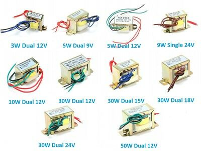 220V 50Hz AC Power Transformer Single/Dual 3W/5W/9W/10W/30W/50W Output 9V-24V