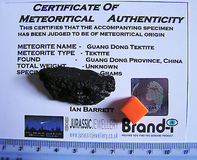 Superb Chinese Tektite -An Amazing Meteorite Relic -With Holographic certificate