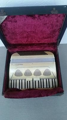 Professional Galanti 'Mother of Pearl' 41 Key / 120 Bass Accordion w/ Case