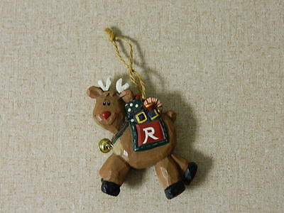 Rudolph Co. Christmas Ornament Red Nose Reindeer Wood Resin? Adorable