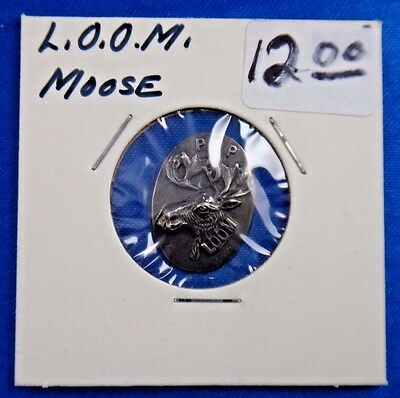 Loyal Order Of Moose LOOM Purity Aid Progress PAP Fraternal Pin Button Badge