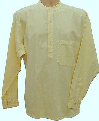Grandad Shirt Kaboo Collarless Shirts Half /button Classic in 10 great Cols