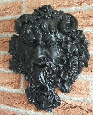 Bacchus God Of Wine Wall Sculpture plaque Garden Greenman Plaque