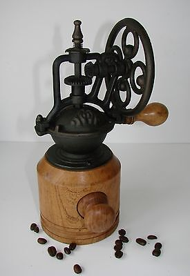 Antique/Vintage Style Coffee Grinder/Mill with Wheel