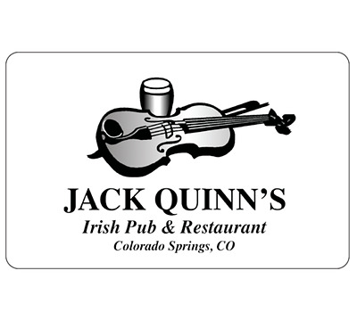 Jack Quinns Irish Pub and Restaurant Gift Card  - $25 $50 or $100 - Emailed