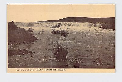 Antique Postcard Idaho Upper Salmon Falls Black And White Image