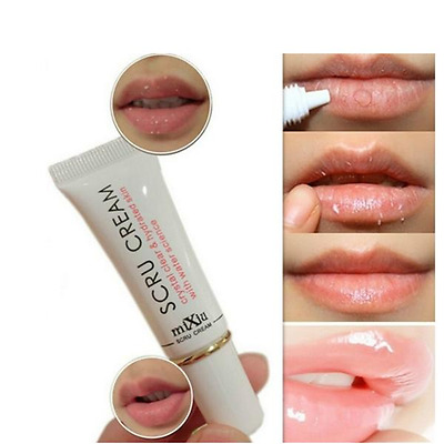 Mixiu Lip Exfoliating Gel Moisturiser Scrub Full Lips Plumper Cream Tube Mask UK