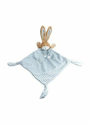 Little Blue Bunny Rabbit Baby Comfort Blanket Baby Comforter Toy Baby Boy