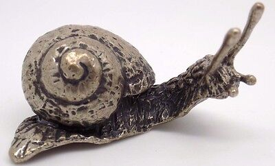 52g Vintage Solid Silver REAL LIFE SIZE Big Snail - Stamped - Made in Italy