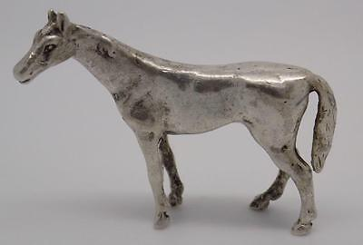 Antique Solid Silver Horse Miniature - Tested - Made in Italy - Read Description