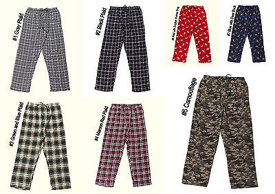 NWT Men's Plaid Camo Deer Dog Flannel Cotton Pajama PJ Lounge Sleep Pants M-2XL