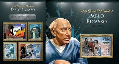 CA13112ab Central Africa 2013 Pablo Picasso MNH SET