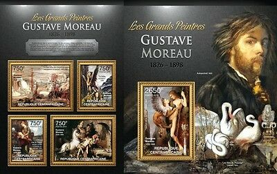 CA13114ab Central Africa 2013 Gustave Moreau MNH SET
