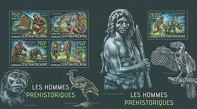 CA13401ab Central Africa 2013 Prehistoric humans MNH SET