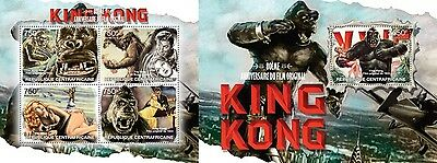 CA13209ab Central Africa 2013 King Kong MNH SET