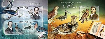 CA13219ab Central Africa 2013 Ornithologist AWilson MNH SET