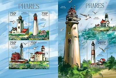 CA13309ab Central Africa 2013 Lighthouses MNH SET