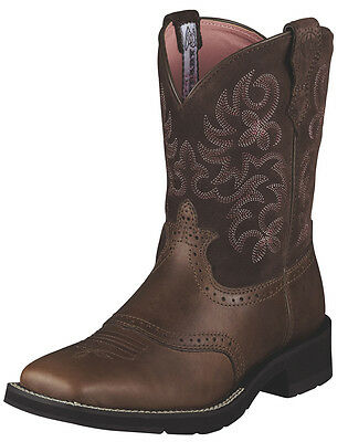 NEW ARIAT FATBABY Women's size 7 EUR 37.5 Leather Brown Rebel RANCH BABY
