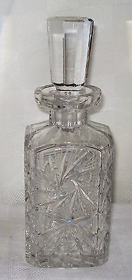 Crystal Lidded Square Decanter
