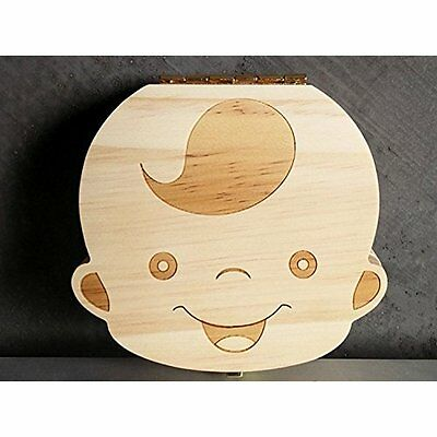 Eproperous Baby Tooth Box,Wood storage box Save Milk teeth  for kids Tooth