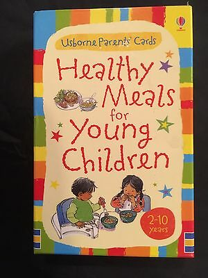 Brand New Usborne Healthy Meals For Young Children Recipe Cards
