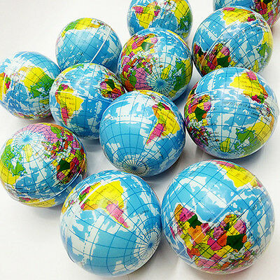 Hot Mini Funny World Map Foam Earth Globe Stress Bouncy Ball Atlas Geography Toy