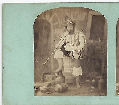 Stereo Stereoview Genre ALBERT SMITH as Guy Faux (Fawkes) Actor London 1850er