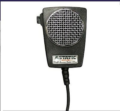 Astatic D104M6B  (302-10005) Amplified Ceramic Power 4-Pin CB Microphone