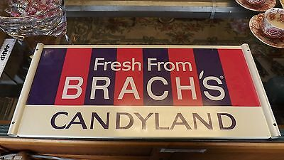Brachs Candyland vintage metal sign - Original candy store display advertising